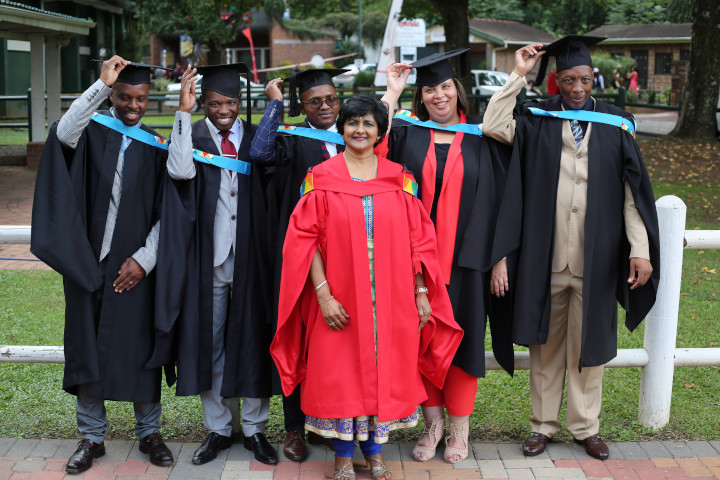 c7c878efea8 Master of Education Graduates seen with their supervisor Dr Jaqueline Naidoo